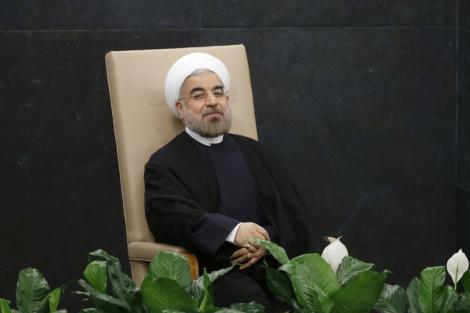 El presidente iraní, Hasan Rohani, durante su intervención ante la ONU. | Afp