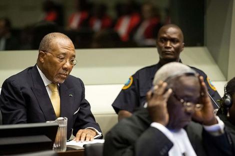 El ex presidente de Liberia Charles Taylor, ante el Tribunal en La Haya. | Reuters