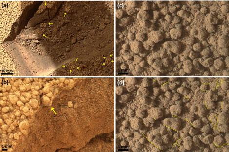 Detalle de las muestras analizadas en Rocknest.| NASA/Science