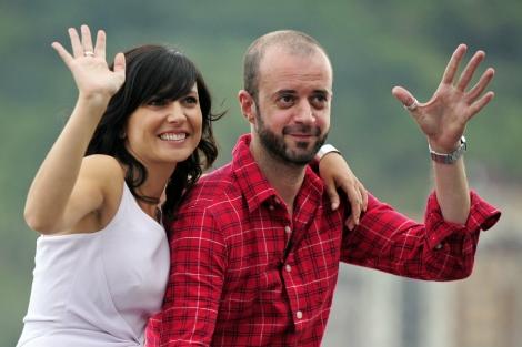 La actriz Marian Alvarez y el director de 'La herida', Fernando Franco. | Afp