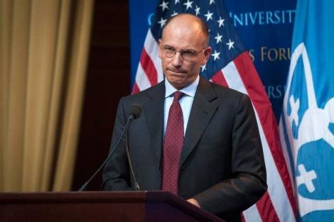 Enrico Letta, durante una rueda de prensa en su viaje a EEUU. | Reuters