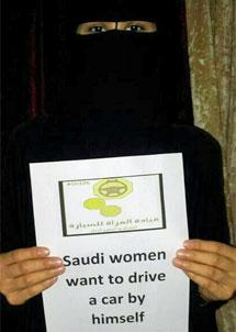 Una mujer apoya la protesta.