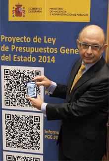 Cristóbal Montoro, en la presentación de los Presupuestos. | Efe