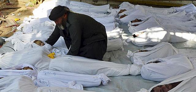 Cadáveres por el ataque químico en Guta.| Reuters
