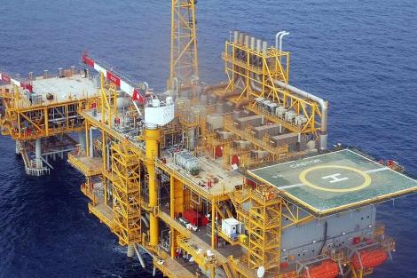Plataforma marina del proyecto de gas Castor. | E. F.