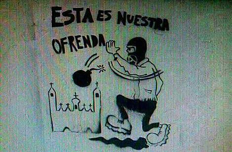Pintada en Zaragoza. | EL MUNDO