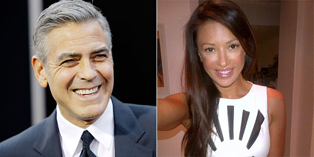 Clooney, anoche en el estreno de Gravity, y Jakisic en una foto compartida por ella.   Reuters/Twitter