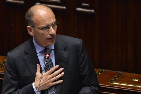 Enrico Letta, en el Parlamento.| Afp