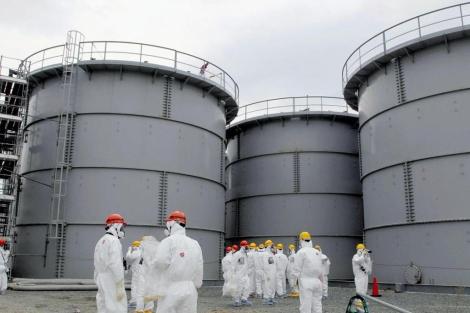 Tanques en los que se han producido las filtraciones en Fukushima. | Reuters