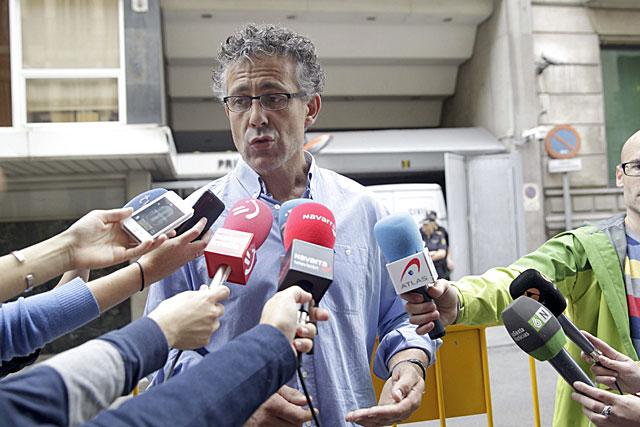 El diputado de Amaiur Xabier Mikel Errekondo, ante la Audiencia Nacional. | Efe