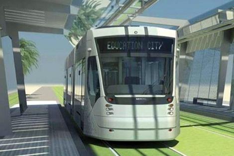 Recreación virtual del tranvía de Qatar. | E.M.