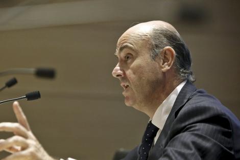 El ministro de Economía, Luis de Guindos, en la presentación del MARF   Alberto Di Lolli