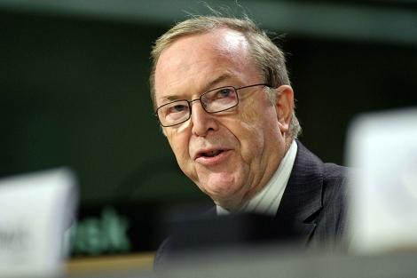Wilfried Martens, durante una conferencia de prensa en Bruselas en junio de 2009.   Reuters
