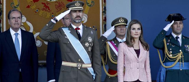 Imagen de los Príncipes durante el desfile