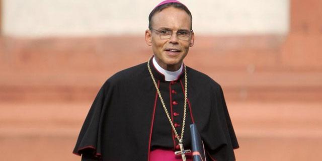 El obispo Tebartz-vanElst, en la catedral de Lumburg.   Afp