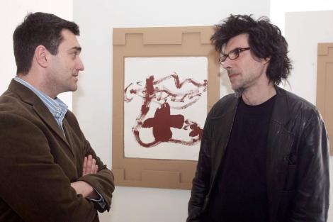 Miquel Tàpies, a la derecha, con Jonan Fernández, en 2005. | J. Gª Koch