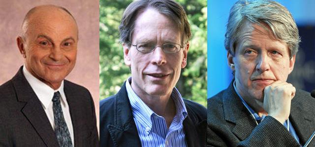 Fama, Hansen y Shiller (de izda. a dcha.).