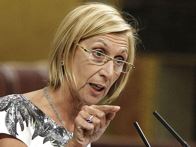 Rosa Díez, el pasado martes en el Congreso de los Diputados. | Fernando Alvarado / Efe
