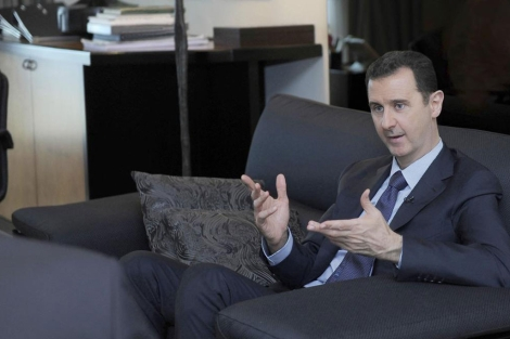 Bashar Asad, durante una entrevista. | Reuters