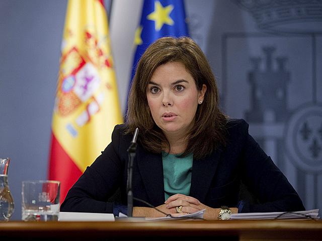 Soraya Sáenz de Santamaría, durante el último Consejo de Ministros. | Gonzalo Arroyo
