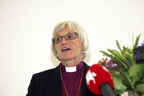 La arzobispa Jackelen, tras su elección. | Reuters