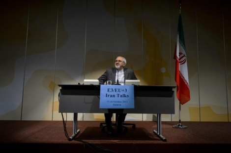 El ministro iraní Mohamed Yavad Zarif.   Afp
