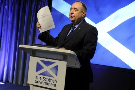 El primer ministro escocés, Alex Salmond, el pasado día 10. | Afp