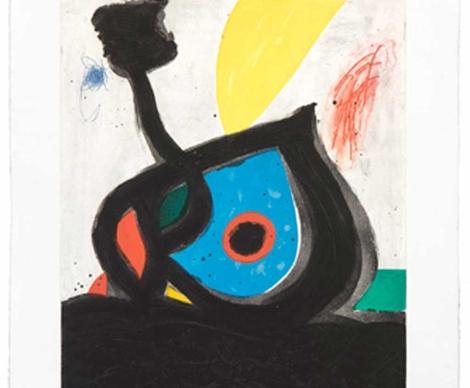 'L'oeil bleu du Volcan' de Joan Miró, 1991: una de las piezas que se subastarán.