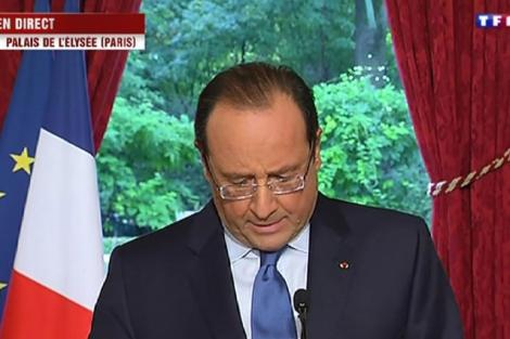 El presidente francés, durante una aparición en televisión el sábado. | Reuters
