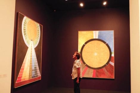La exposición de Hilma af Klint en el Museo Picasso. | J. Domínguez