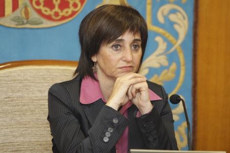 La hasta ahora alcaldesa de Ibi, Mayte Parra, en un pleno. | P.Rubio