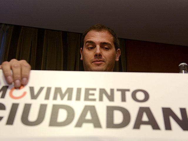 Albert Rivera en la presentación de la plataforma Movimiento Ciudadano, la semana pasada en Madrid. | Bernardo Díaz