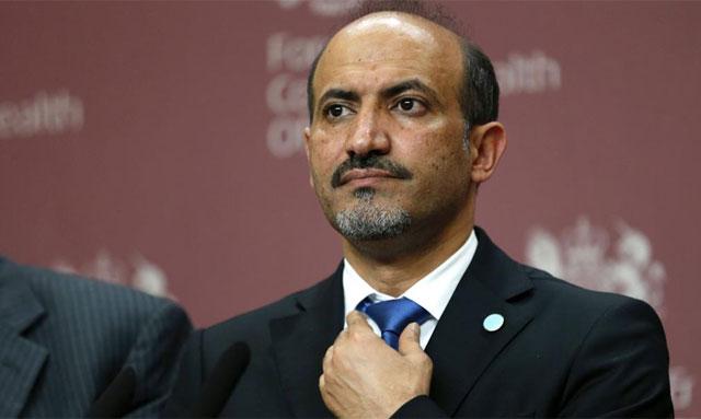 El presidente del Consejo Nacional Sirio Ahmad Jarba.  Afp