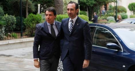Bauzá recibe en el Consolat al presidente de la Comunidad de Madrid Ignacio González .   J.A.