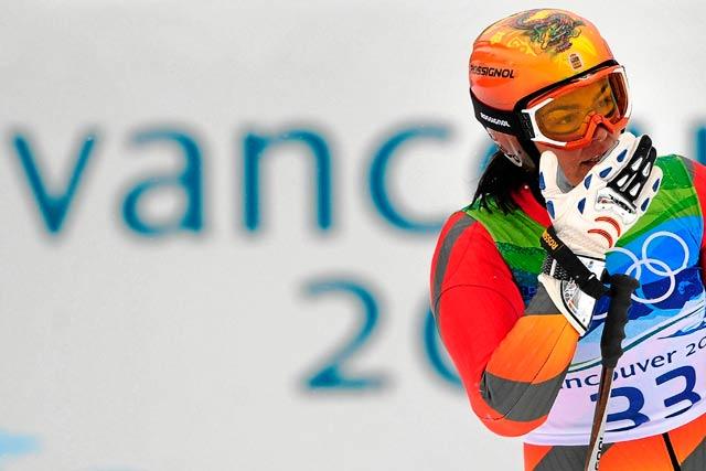 La española María José Rienda tras su slalom gigante en los últimos Juegos de INvierno, en Vancouver. | Afp