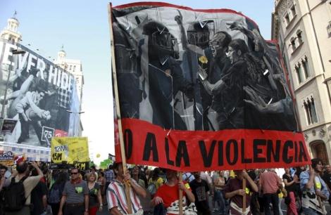 El aniversario del 15-M, en mayo de 2012, también fue monitorizado. | Domènec Umbert