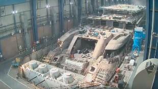 Así se construye un yate de 500 millones