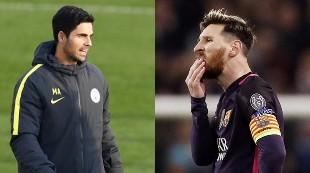 La verdad del lío Messi-Arteta en el túnel de vestuarios