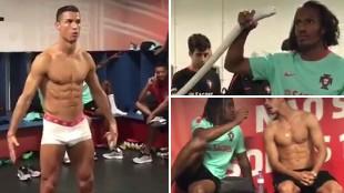 'Mannequin challenge' de Portugal con Cristiano en calzoncillo