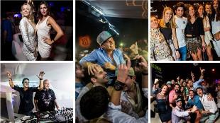 Música, mujeres, copas y 14 pilotos en la fiesta de Rosberg