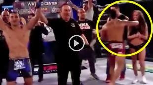 Un luchador paga su rabia con un puñetazo a una 'ring girl'