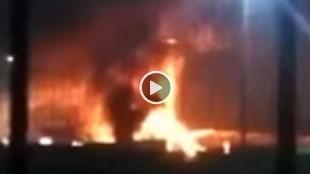 Espectacular incendio en Ferrari Land en Port Aventura