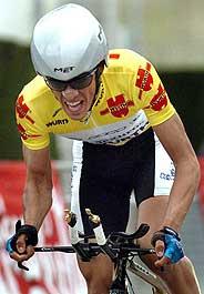 Contador defendió su título en la contrarreloj. (Foto: EFE)