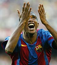 Eto'o celebra su gol. (Foto:AP)