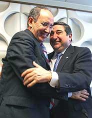 Javier Irureta, en su despedida con Lendoiro. (Foto:EFE)