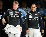 Raikkonen y Montoya. (Foto: AP)