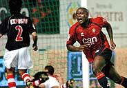 El delantero Webó dio la puntilla al Athletic en el minuto 92. (Foto: EFE)