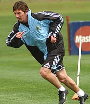 Lionel Messi, durante un entrenamiento. (Foto: AP)