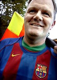 Ole Hermann Borgen, con la camiseta del Barça. (Foto: LISA SELIN)