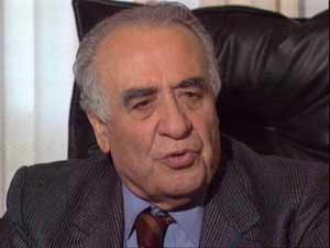 Franco Sensi, presidente de la Roma.